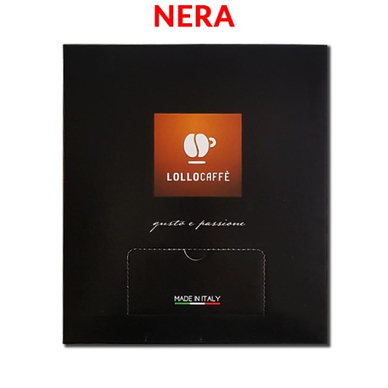 100 capsule LOLLO miscela NERA compatibile Bialetti
