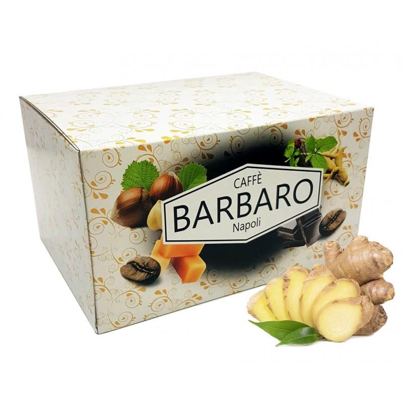 20 cialde in carta BARBARO caffè aromatizzato GINSENG ESE 44