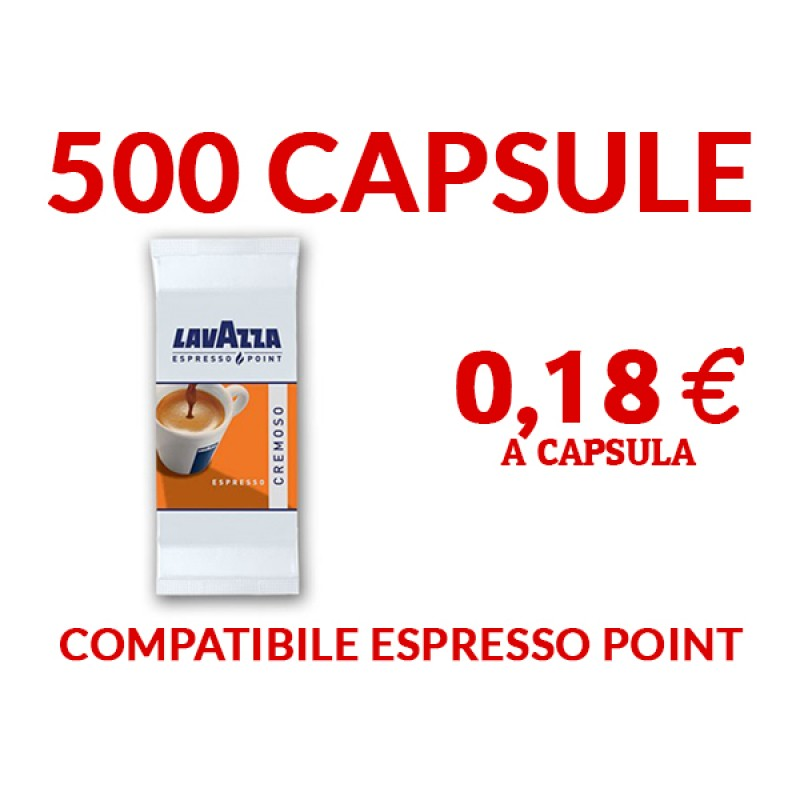 500 capsule Lavazza Cremoso Espresso Point