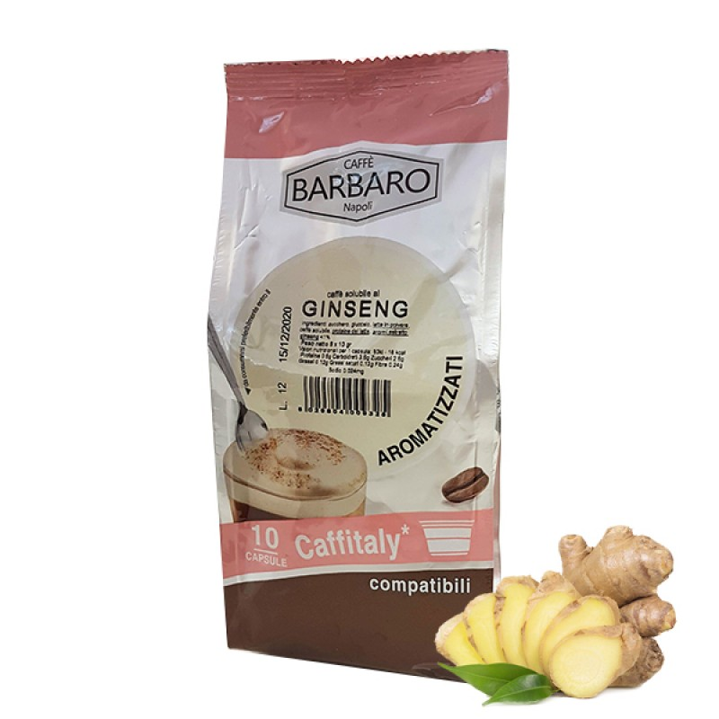 10 capsule Barbaro Ginseng compatibile Caffitaly