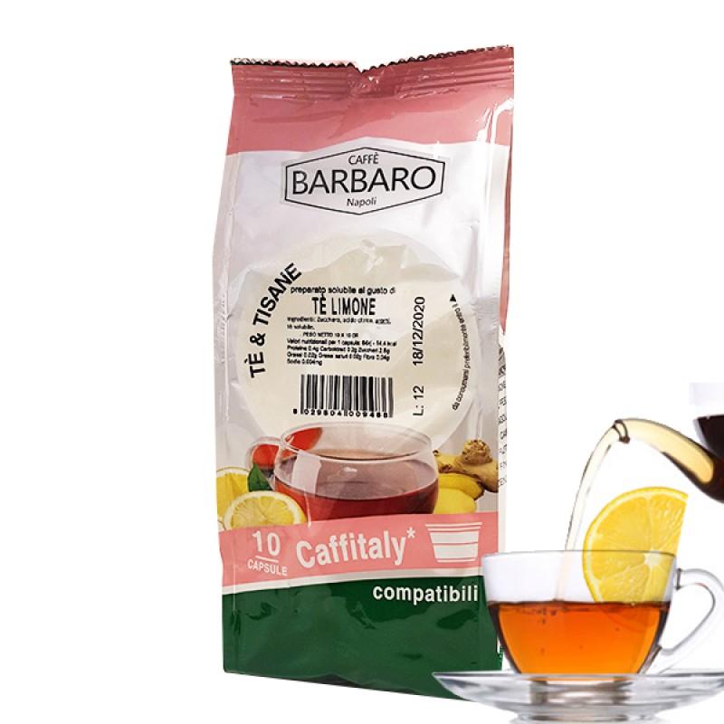 10 capsule Barbaro Te Limone compatibile Caffitaly