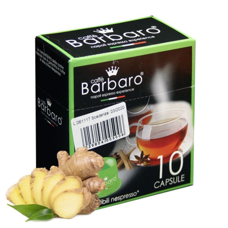 10 capsule BARBARO TISANA ZENZERO E LIMONE compatibile Nespresso