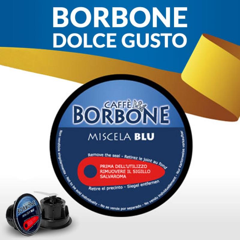 90 capsule caffè BORBONE BLU Compatibile Dolce Gusto