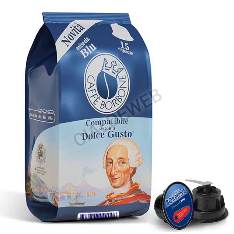 15 capsule caffè BORBONE BLU Compatibile Dolce Gusto