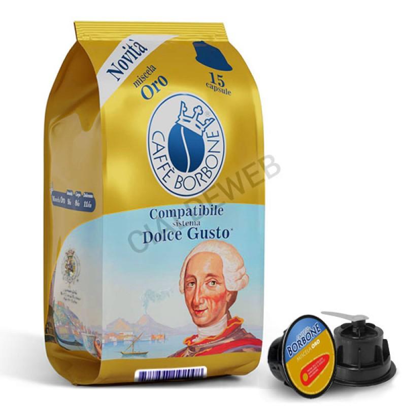 15 capsule caffè BORBONE ORO Compatibile Dolce Gusto