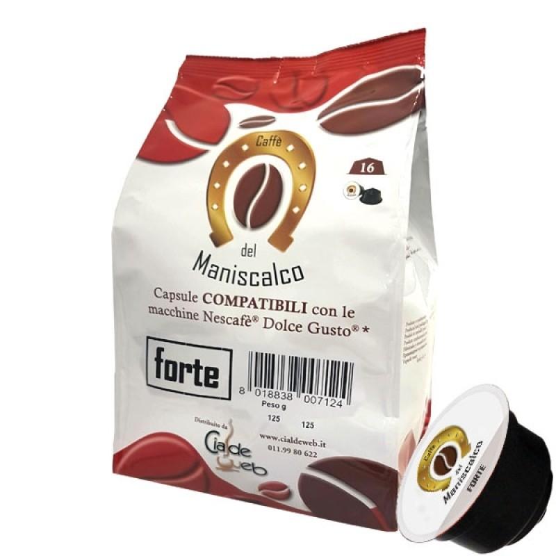 128 capsule Caffè del Maniscalco Forte compatibili Nescafè Dolce Gusto