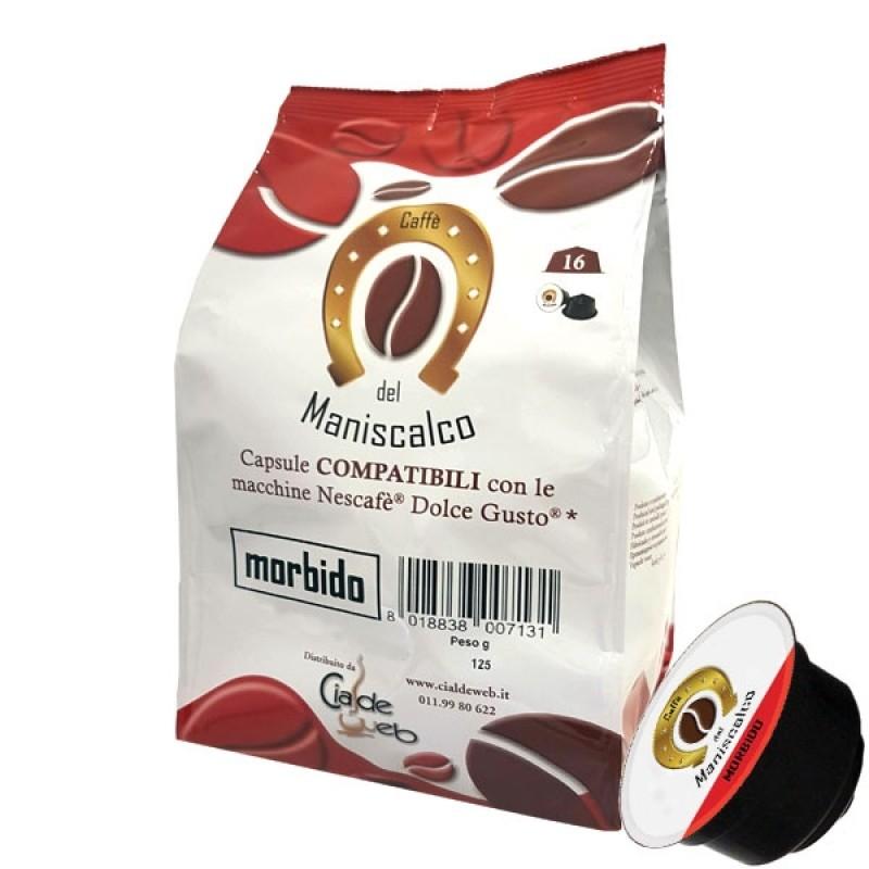 16 capsule Caffè del Maniscalco Morbido compatibili Nescafè DolceGusto