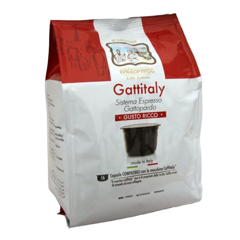 16 capsule Gattopardo Gusto RICCO Gattitaly To.Da compatibili Caffitaly