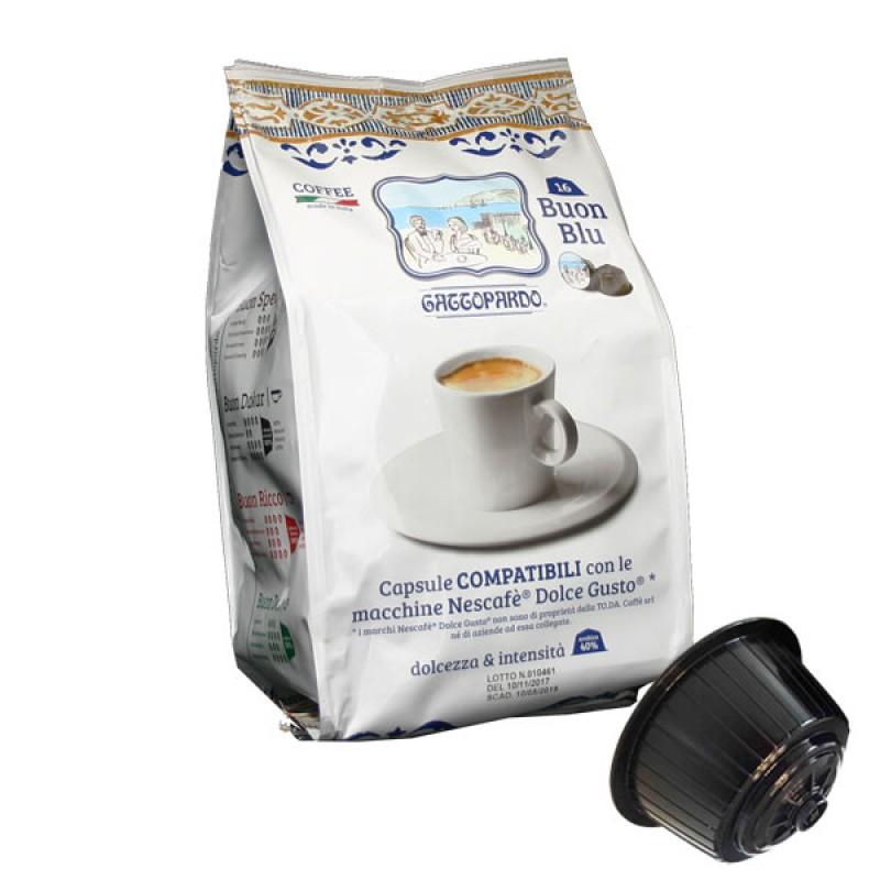 To.Da caffe' Gattopardo Gusto Blu compatibile Dolcegusto 16 capsule