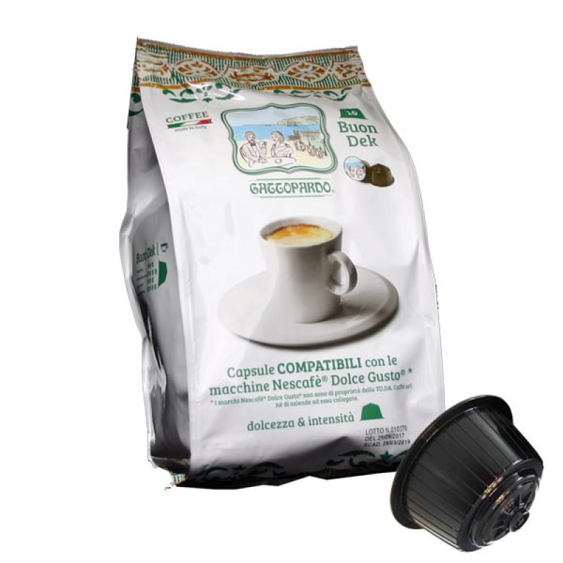 16 capsule caffe' To.Da Gattopardo Decaffeinato compatibili Dolcegusto