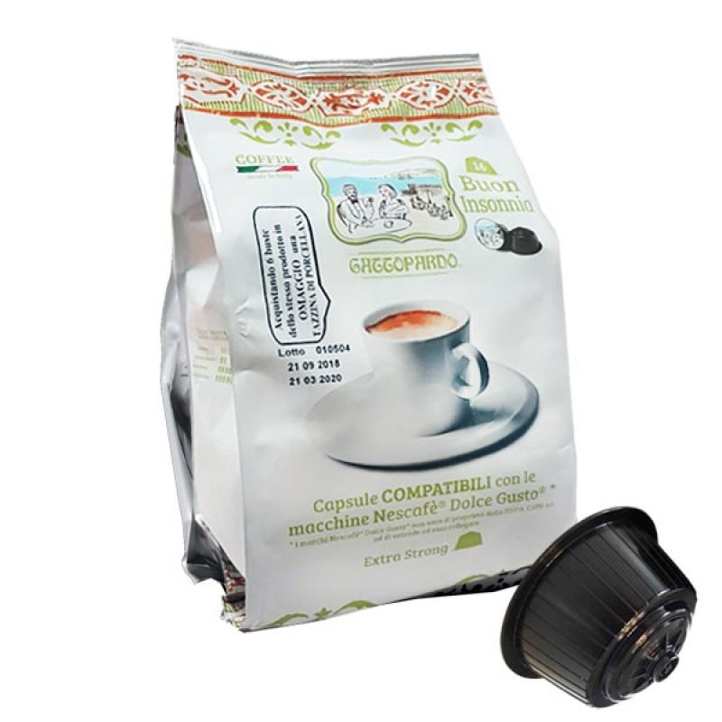 16 capsule caffe' Gattopardo Insonnia Compatibile Dolcegusto