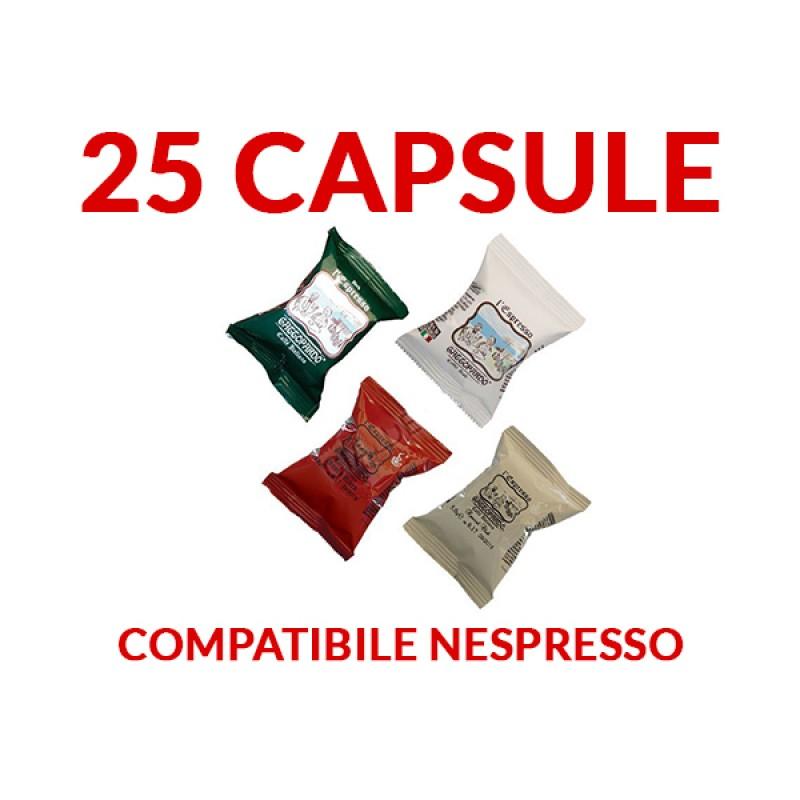 25 capsule Gattopardo caffe compatibili Nespresso