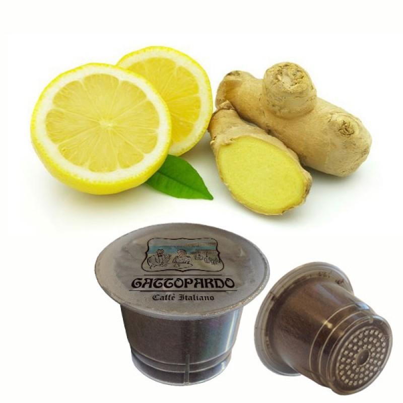 10 capsule Gattopardo zenzero el limone compatibili Nespresso