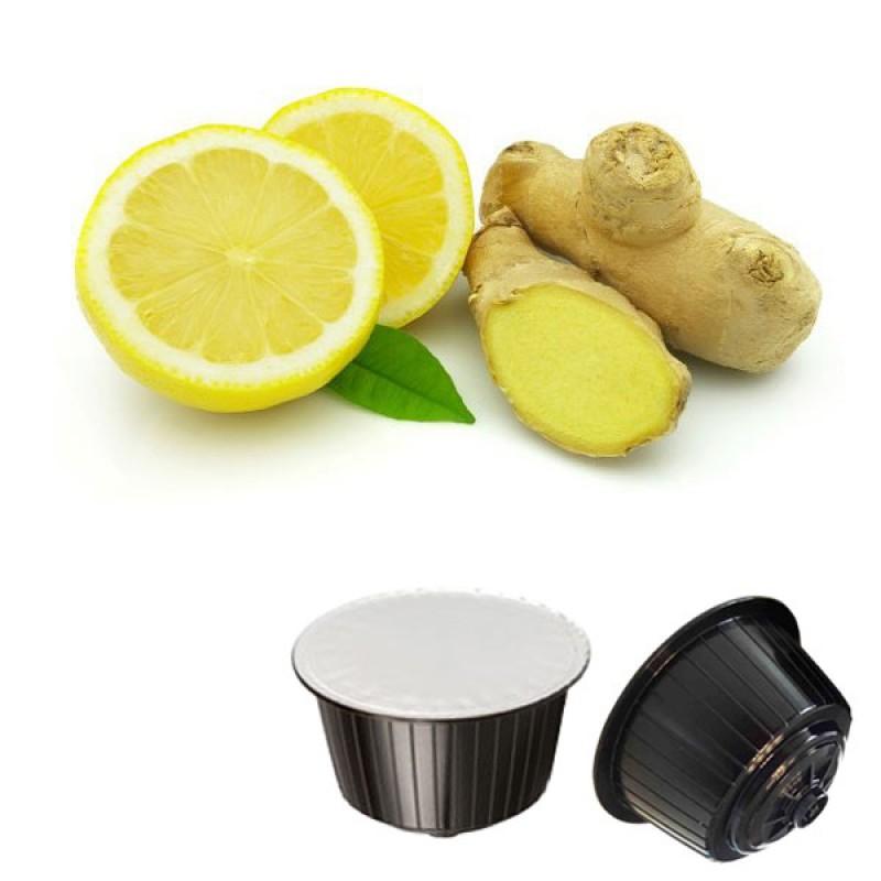 16 capsule Gattopardo Zenzero e Limone Compatibile Dolcegusto