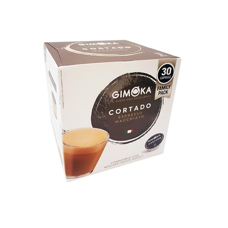 30 Capsule Cortado gimoka puro aroma compatibili Nescafè Dolcegusto