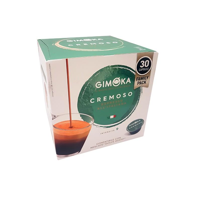 30 Capsule Cremoso gimoka puro aroma compatibili Nescafè Dolcegusto