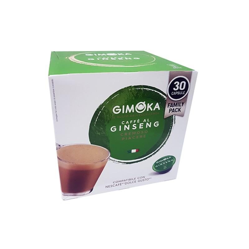 30 Capsule Ginseng gimoka puro aroma compatibili Nescafè Dolcegusto