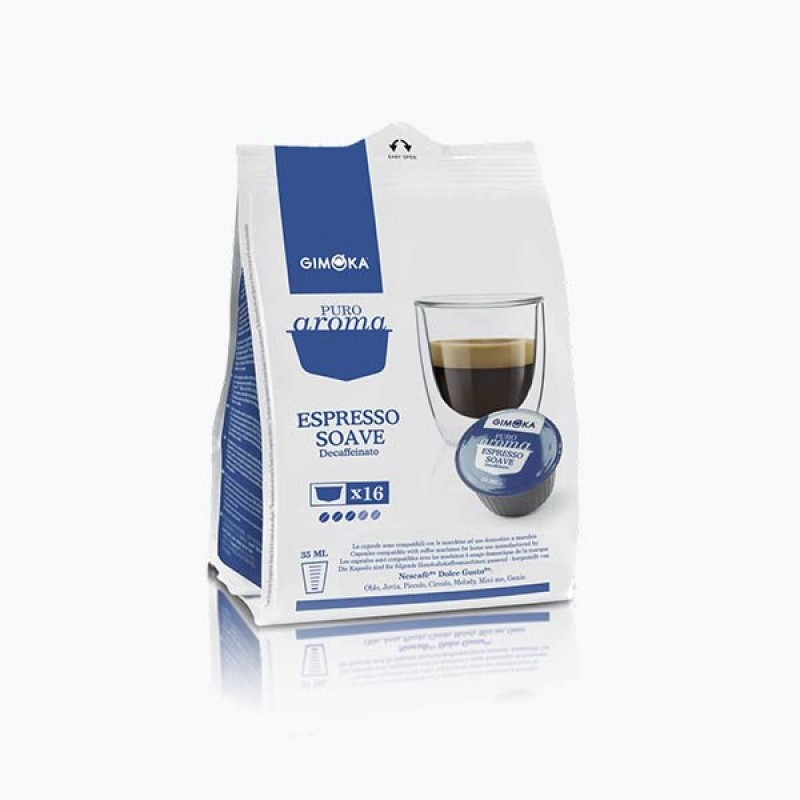 16 Capsule SOAVE GIMOKA decaffeinato compatibili NesCafè