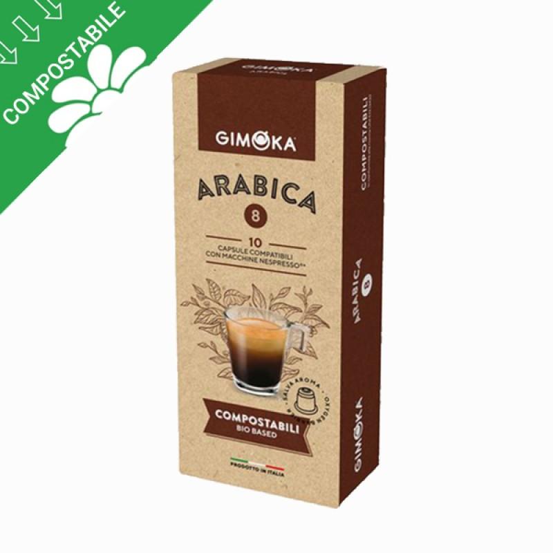 10 capsule Gimoka compostabili ARABICA compatibili Nespresso
