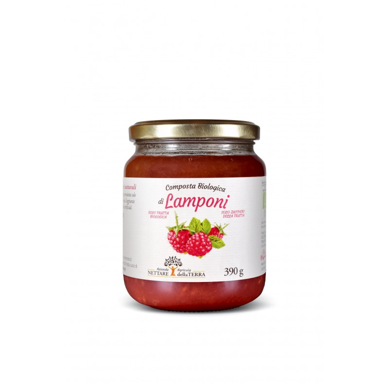 Composta Bio Lamponi 390 gr Nettare Della Terra