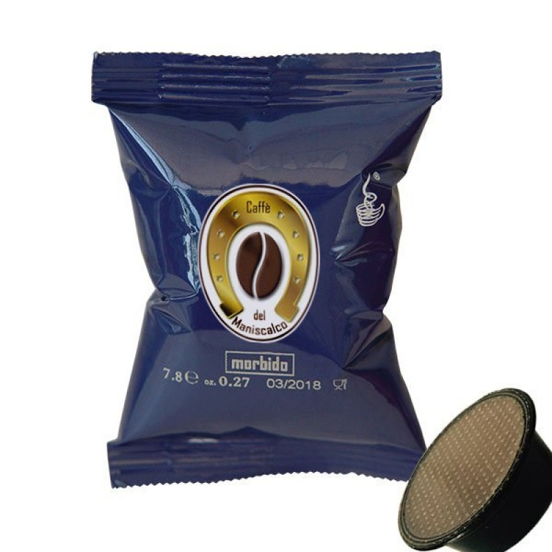50 capsule Caffè del Maniscalco Morbido compatibili A Modo Mio