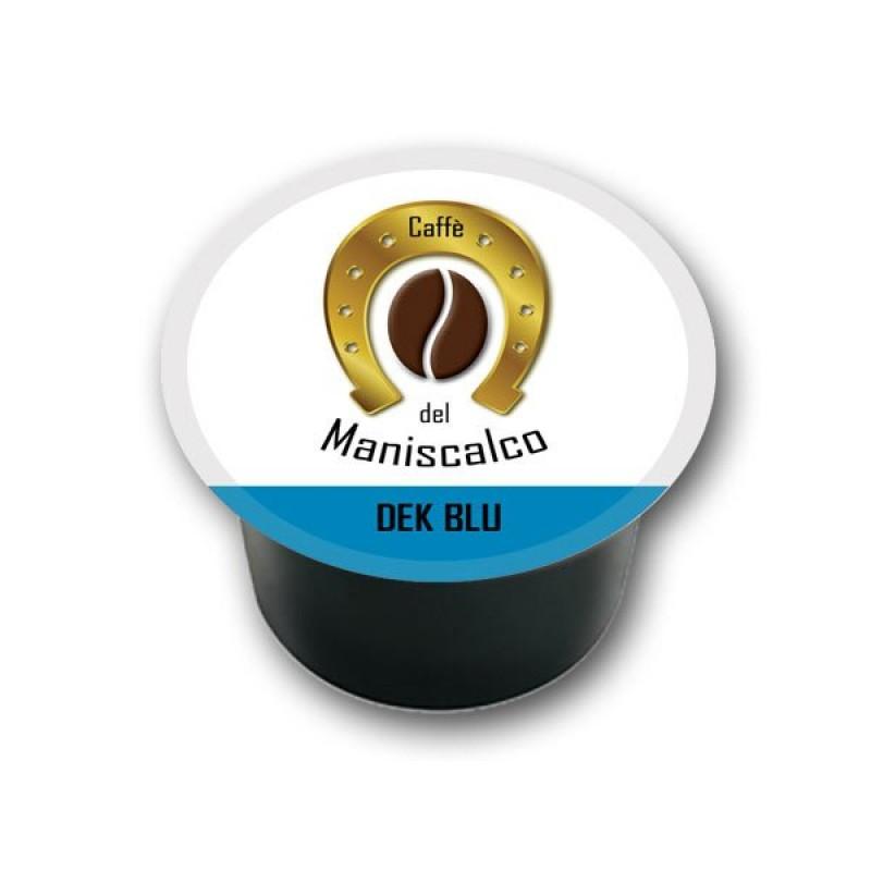 100 capsule caffe del Maniscalco Dek Blu compatibili LavAzza Blue