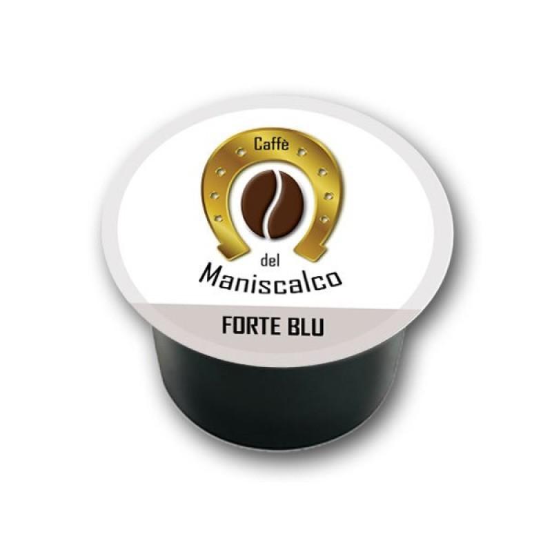 100 capsule caffe del Maniscalco Forte Blu compatibili LavAzza Blue