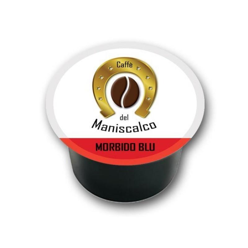 100 capsule caffe del Maniscalco Morbido Blu compatibili LavAzza Blue