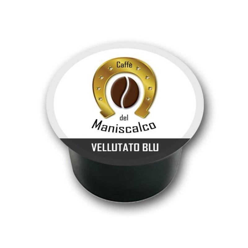 100 capsule caffe del Maniscalco Vellutato Blu compatibili LavAzza Blue