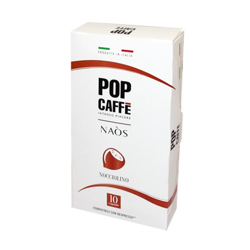 10 capsule Pop Caffè NAOS NOCCIOLINO compatibile NESPRESSO