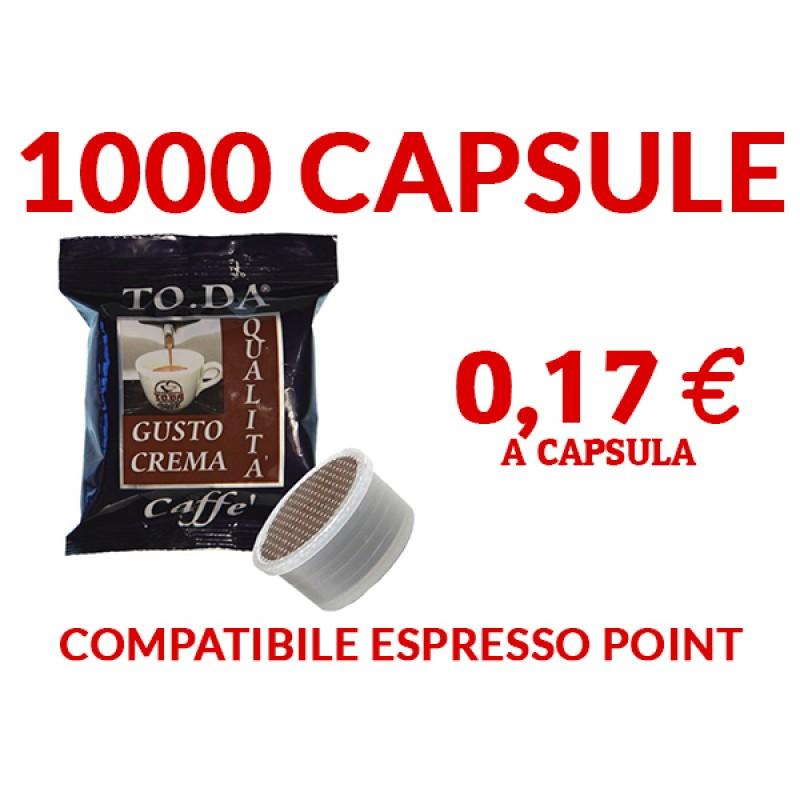 1000 Capsule caffè ToDa compatibile espresso point 0,17 -TRASPORTO GRATIS-