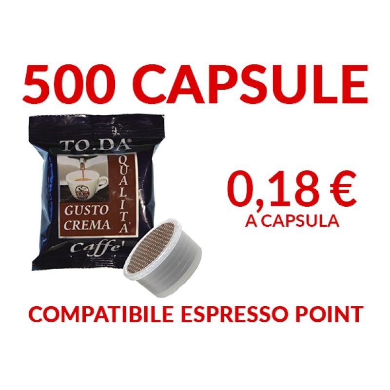 500 Capsule caffè ToDa compatibile espresso point 0,17 -TRASPORTO GRATIS-