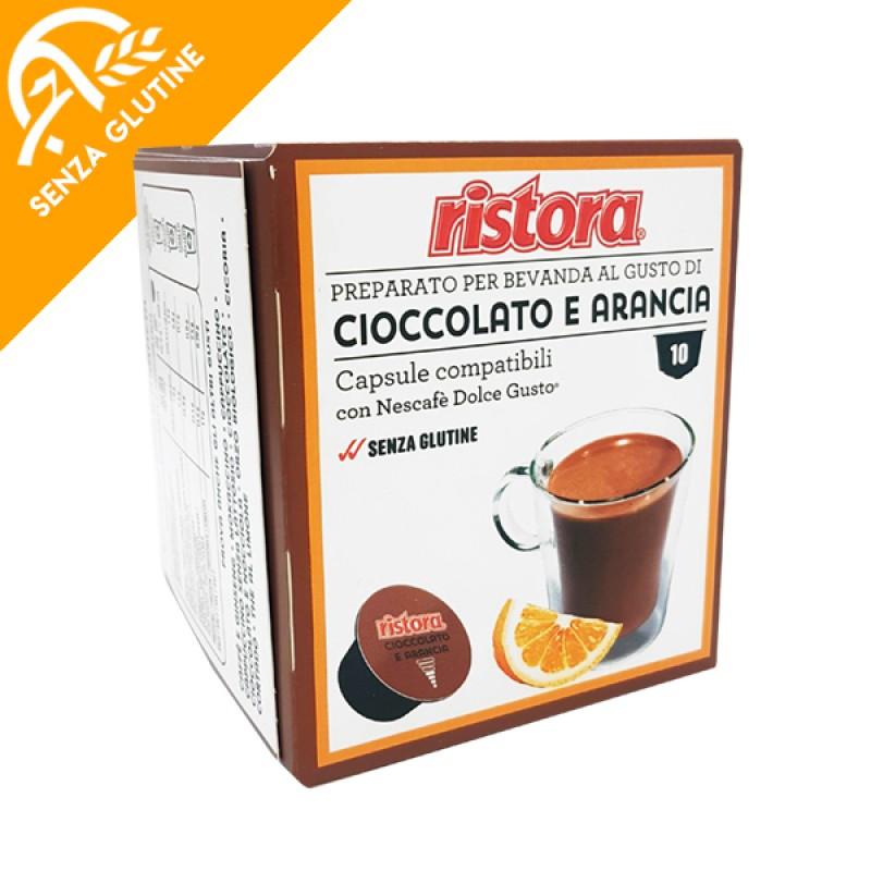 10 capsule Cioccolato e Arancia Ristora compatibile Dolce Gusto