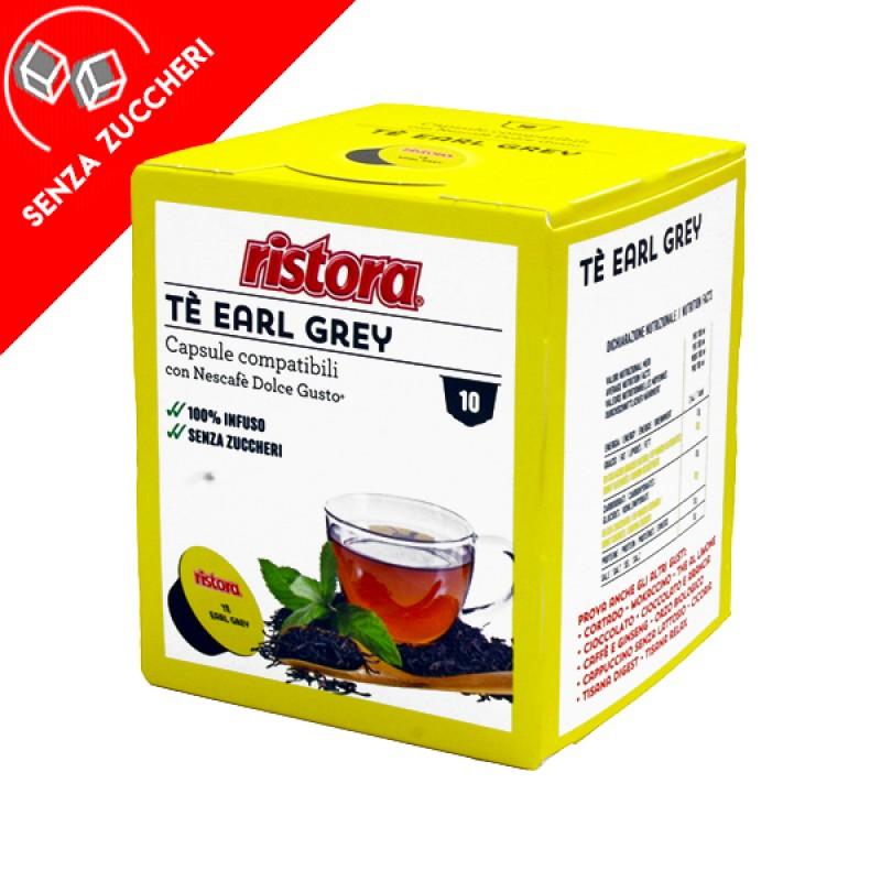 10 capsule Tè Earl Grey solubile Ristora compatibile Dolce Gusto