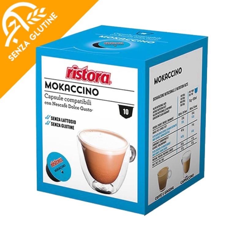 10 capsule Mokaccino Ristora compatibile Dolce Gusto
