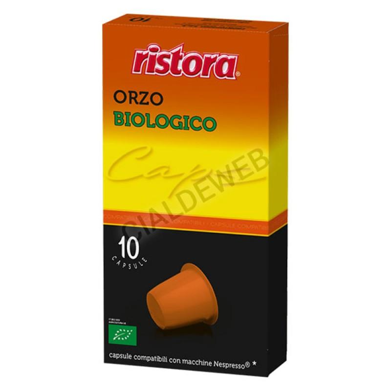 10 capsule Orzo Biologico RISTORA compatibili Nespresso
