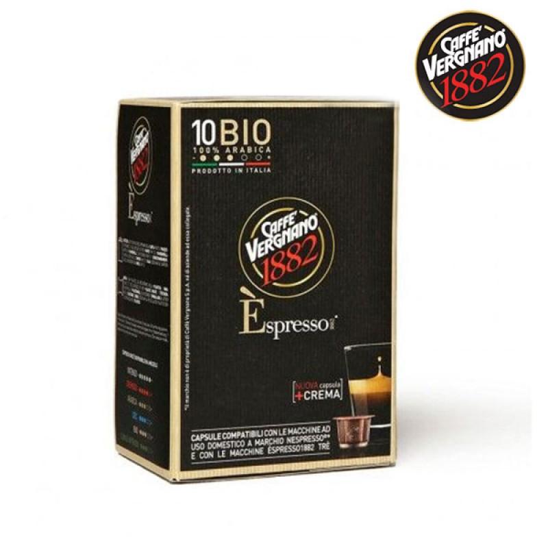 10 capsule caffè VERGNANO BIO Compatibile Nespresso - COMPOSTABILE