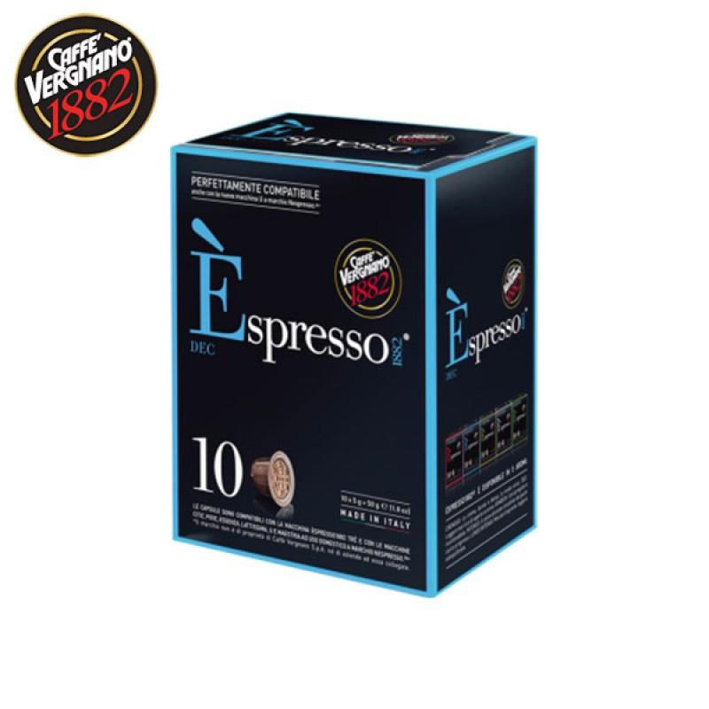 10 capsule caffè VERGNANO DECAF Compatibile Nespresso