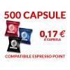 500 cialde caffè Borbone compatibili espresso point trasporto gratis