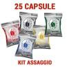 Borbone Respresso compatibile Nespresso 25 capsule kit assaggio miste