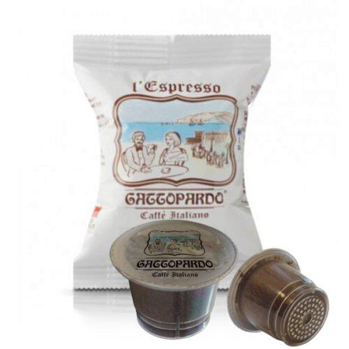 100 capsule caffè Gaattopardo gusto Blu compatibili Nespresso