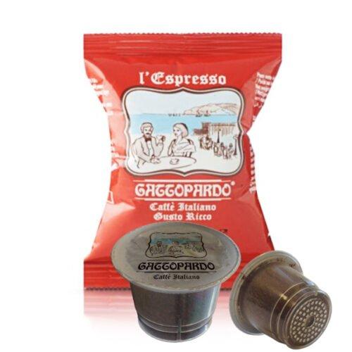 100 capsule caffè Gattopardo gusto Ricco compatibili Nespresso