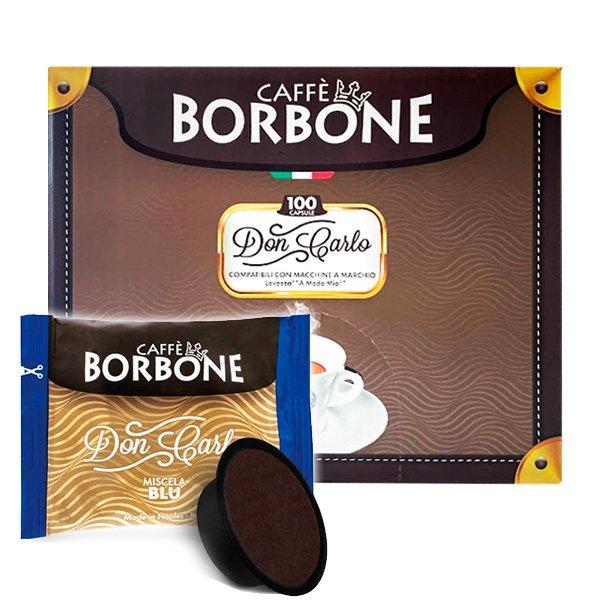 Box 100 capsule Don Carlo Caffè Borbone Miscela Blu