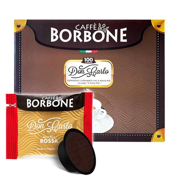 Box 100 capsule Don Carlo Caffè Borbone Miscela Rossa