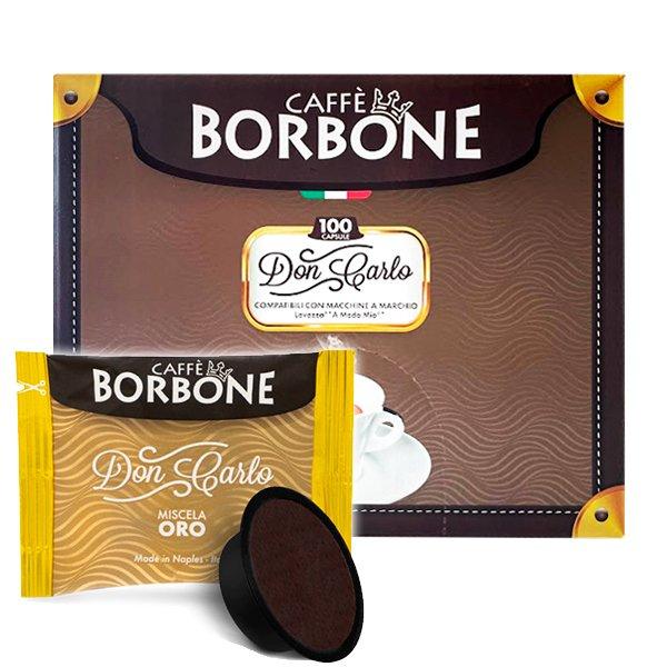 Box 100 capsule Don Carlo Caffè Borbone Miscela Oro