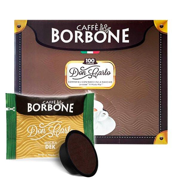 Box 100 capsule Don Carlo Caffè Borbone Miscela Dek