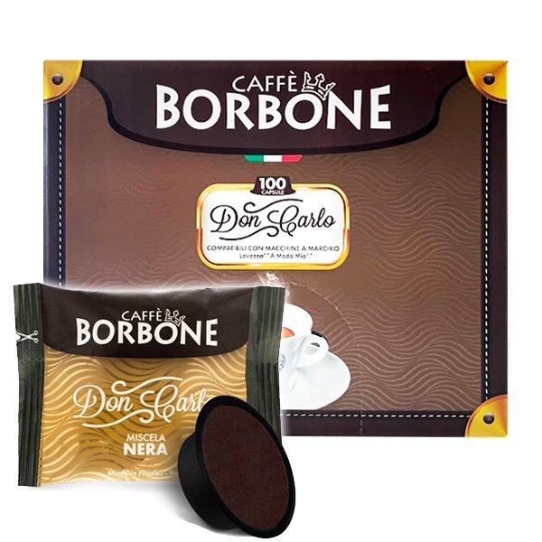 Box 100 capsule Don Carlo Caffè Borbone Miscela Nera