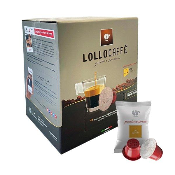 100 capsule Lollo caffè miscela Oro compatibili Nespresso