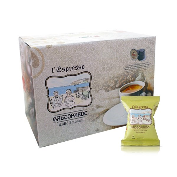 Box 100 capsule caffè Gattopardo gusto Insonnia compatibili Nespresso