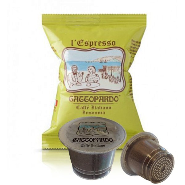 100 capsule caffè Gattopardo gusto Insonnia compatibili Nespresso